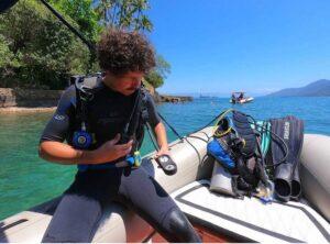 Mergulho com Cilindro - Jipe Aventura Ilhabela